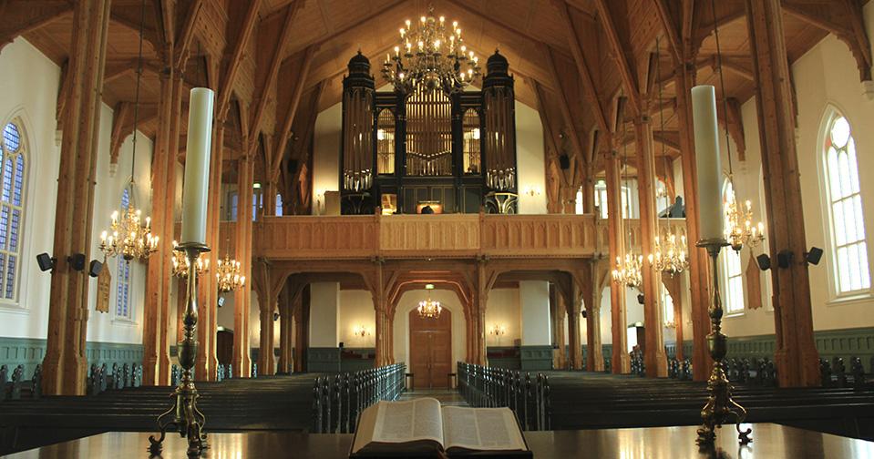 Maling av orgel, Kristiansand domkirke.